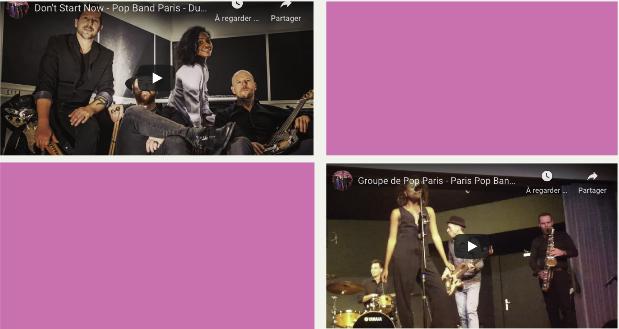 Groupe Pop variété internationale Paris